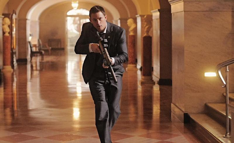 """This film publicity image released by Columbia Pictures shows Channing Tatum in a scene from """"White House Down."""" (AP Photo/Sony Columbia Pictures, Reiner Bajo)"""
