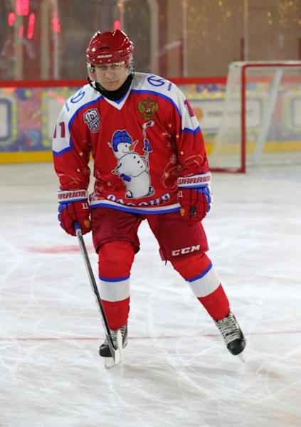 Putin himself plays in several gala matches a year