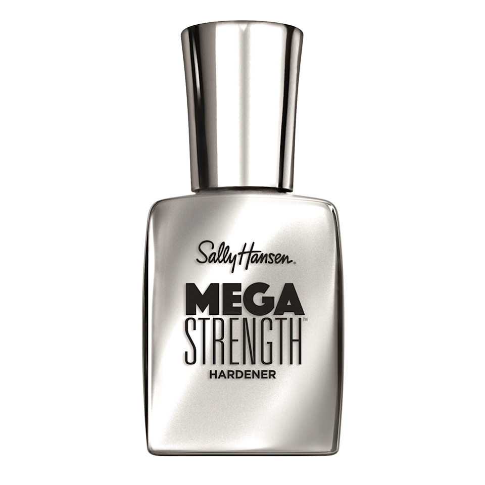 "<p>Sally Hansen's affordable Mega Strength Hardener is an <em>Allure</em> Best of Beauty winner for a reason: This transparent and shiny base coast formula dries in seconds, looks great on its own or underneath another polish, and its wide, flat brush makes application a breeze. Not to mention its hardening effect is immediately noticeable on brittle, break-prone nails.</p> <p><strong>$6</strong> (<a href=""https://shop-links.co/1684974890839398672"" rel=""nofollow"">Shop Now</a>)</p>"