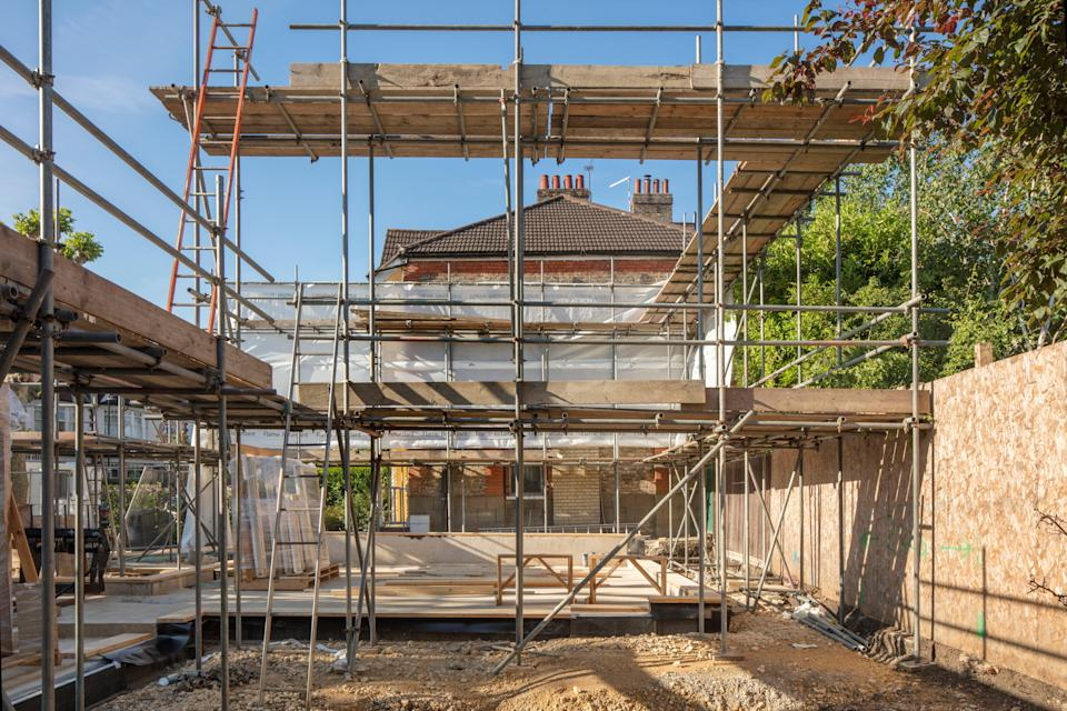 Dream house: Jonathan Wilson is spending £600,000 on the design and construction of his flat-pack home in Crouch End (Morley von Sternberg)