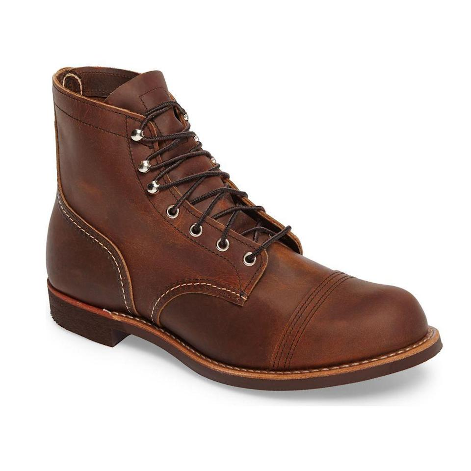 "<p><strong>RED WING</strong></p><p>nordstrom.com</p><p><strong>$330.00</strong></p><p><a href=""https://go.redirectingat.com?id=74968X1596630&url=https%3A%2F%2Fwww.nordstrom.com%2Fs%2Fred-wing-iron-ranger-cap-toe-boot-men%2F4690068&sref=https%3A%2F%2Fwww.countryliving.com%2Ffood-drinks%2Fg36302897%2Ficonic-state-products%2F"" rel=""nofollow noopener"" target=""_blank"" data-ylk=""slk:Shop Now"" class=""link rapid-noclick-resp"">Shop Now</a></p><p><strong><em>Red Wing</em></strong><em><strong> Iron Ranger Cap Toe Boot</strong></em></p><p>The Land of 10,000 Lakes is home to heritage boot brand Red Wing Shoes, which has been creating work boots for over a century. Pick up a pair of their standard Iron Ranger Cap boots, a quality leather boot that's made to last a lifetime.</p>"