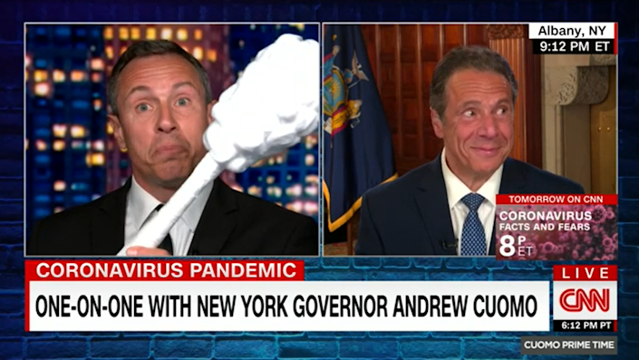 The Cuomo brothers regularly appeared on CNN together before the sexual harassment scandal rocked Andrew Cuomo's career (CNN)
