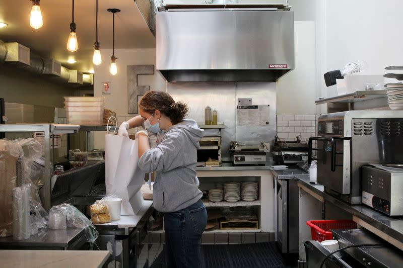 FILE PHOTO: Oakland cafe reopens amid coronavirus shelter-in-place