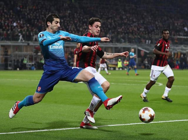 Arsene Wenger bristles at suggestion Arsenal were in need of Europa League first-leg victory over AC Milan