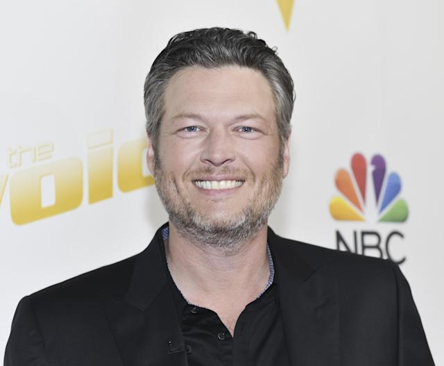 Blake Shelton on the set of <em>The Voice</em> on April 30. (Photo: Rodin Eckenroth/Getty Images for NBC)