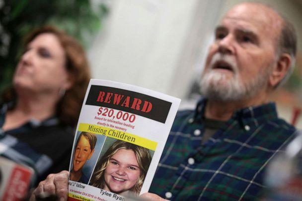 PHOTO: Kay and Larry Woodcock speak to members of the media in Rexburg, Idaho, Jan. 7, 2020 about the reward they are offering for information that leads to the recovery of Joshua Vallow and Tylee Ryan, who were last seen in September 2019. (The Idaho Post-Register via AP, FILE)