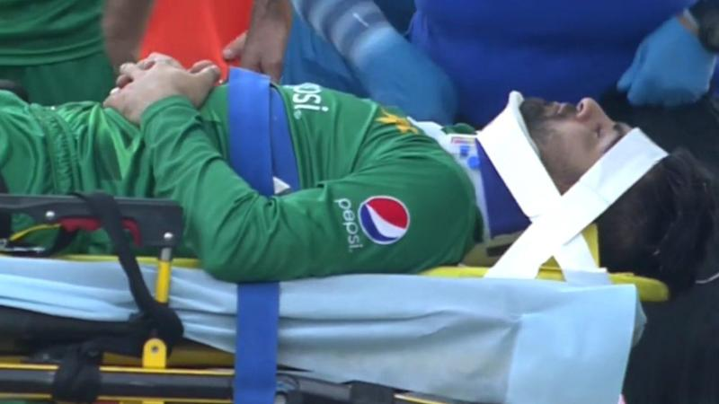 Pak's Ahmed Shehzad Leaves Field in Ambulance After Neck Injury
