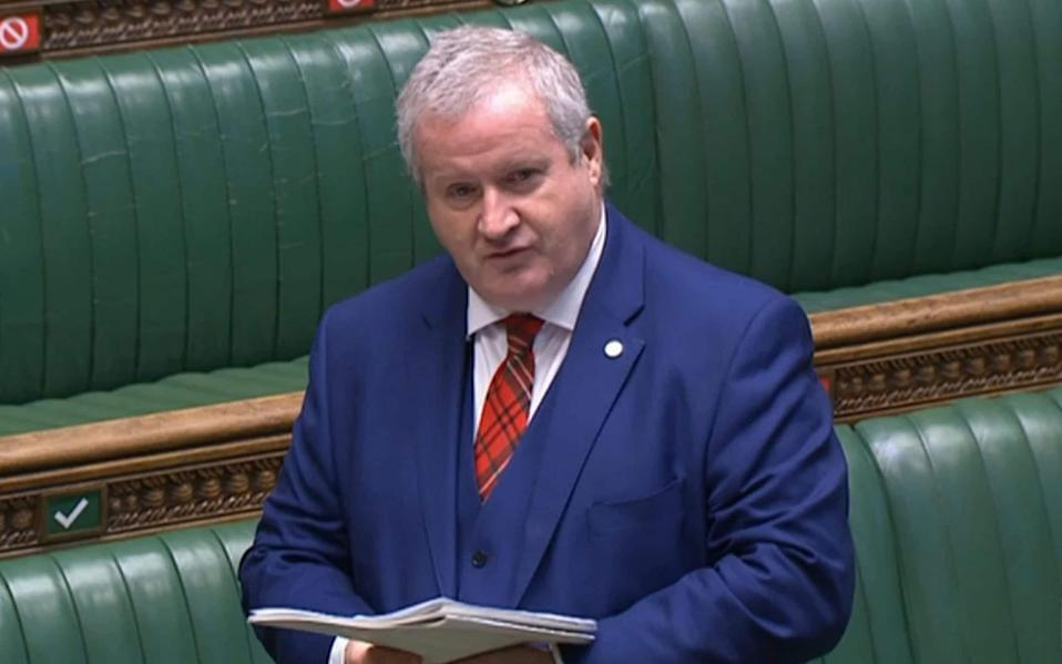 Ian Blackford, the SNP's Westminster leader, insisted again that another separation referendum could be staged this year if Ms Sturgeon succeeds in winning a majority in May - PA