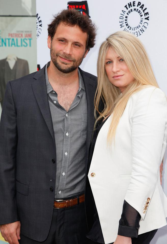 "BEVERLY HILLS, CA - APRIL 12:  Actor Jeremy Sisto (L) and wife Addie Lane attend the Paley Center's opening of ""Television: Out Of The Box"" at The Paley Center for Media on April 12, 2012 in Beverly Hills, California.  (Photo by Imeh Akpanudosen/Getty Images)"