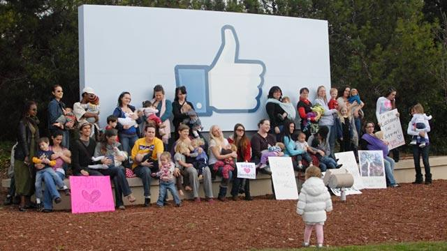 Breastfeeding Advocates Protest Facebook With Nurse-In