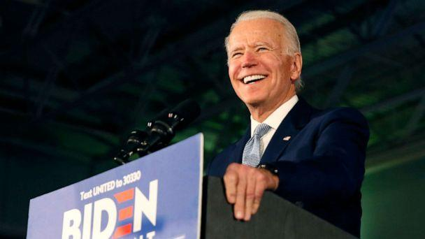 PHOTO: Democratic U.S. presidential candidate and former Vice President Joe Biden addresses supporters at his South Carolina primary night rally in Columbia, South Carolina, Feb. 29, 2020. (Elizabeth Frantz/Reuters)