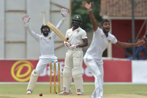 This appeal by Lasith Embuldeniya against Donald Tiripano was unsuccessful but the left-arm spinner finished with 4-182 as Sri Lanka bowled out Zimbabwe for 406