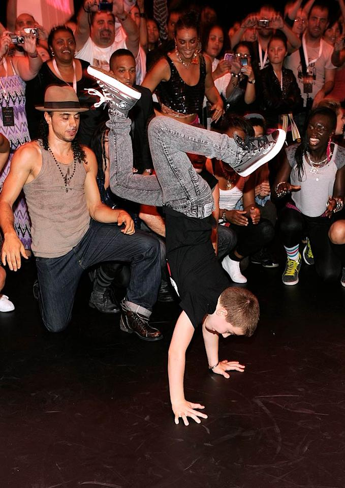 """But Lourdes isn't the only one in the family with mad skills. Madonna's son, Rocco Ritchie, showed off some serious moves on the dance floor. Kevin Mazur/<a href=""""http://www.wireimage.com"""" target=""""new"""">WireImage.com</a> - September 22, 2010"""