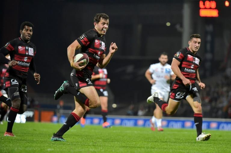 Jean-Marcellin Buttin scored twice as Lyon extended their advantage as Top 14 leaders beating Bordeaux-Begles (AFP Photo/ROMAIN LAFABREGUE)