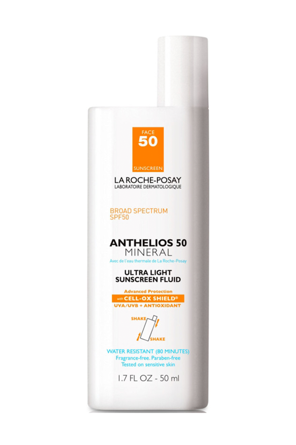 """<p><strong>La Roche-Posay</strong></p><p>ulta.com</p><p><strong>$36.99</strong></p><p><a href=""""https://go.redirectingat.com?id=74968X1596630&url=https%3A%2F%2Fwww.ulta.com%2Fanthelios-50-mineral-ultra-light-sunscreen-fluid-spf-50%3FproductId%3DxlsImpprod3840051&sref=https%3A%2F%2Fwww.cosmopolitan.com%2Fstyle-beauty%2Fbeauty%2Fg35863427%2Fbest-drugstore-sunscreens%2F"""" rel=""""nofollow noopener"""" target=""""_blank"""" data-ylk=""""slk:Shop Now"""" class=""""link rapid-noclick-resp"""">Shop Now</a></p><p>Even as a daily sunscreen wearer, I totally get why SPF gets a bad rap: It's usually thick, chalky, and leaves behind an annoying white cast. But this drugstore formula is here to change your mind—it's basically as lightweight as SPF gets and it <strong>creates a</strong><strong> soft, non-greasy base</strong> that's even great for <a href=""""https://www.cosmopolitan.com/style-beauty/beauty/g35217353/best-spring-2021-makeup-trends/"""" rel=""""nofollow noopener"""" target=""""_blank"""" data-ylk=""""slk:makeup"""" class=""""link rapid-noclick-resp"""">makeup</a> prep.</p>"""