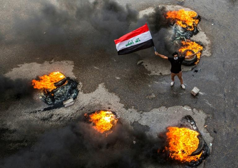 Despite a death toll that has topped 350, the youth-led protests continue against the government of a country that anti-graft watchdog Transparency International ranks as the 12th most corrupt in the world (AFP Photo/Hussein FALEH)