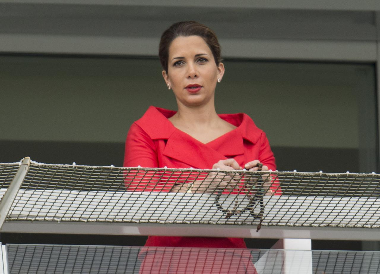 EPSOM, ENGLAND - JUNE 01: Princess Haya Bint Al Hussein at The Investec Derby Festival at Epsom Racecourse on June 1, 2013 in Epsom, England. (Photo by Mark Cuthbert/UK Press via Getty Images)