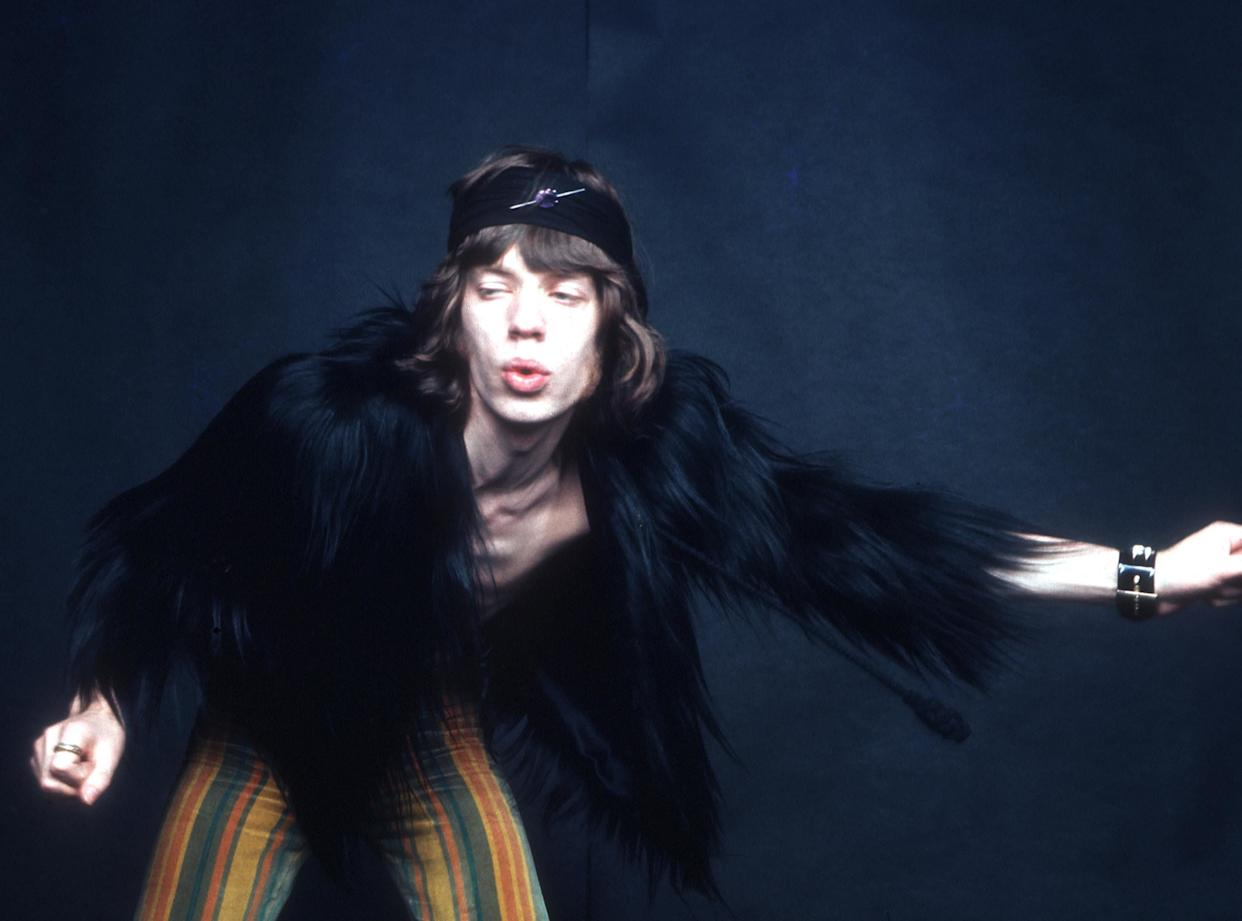 CIRCA 1969: Singer Mick Jagger of the rock and roll band 'The Rolling Stones' poses for a portrait session in circa 1969. (Photo by Michael Ochs Archives/Getty Images)