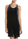 """<div class=""""caption-credit""""> Photo by: lastcall.com</div><b>Theory Pestia Crushed Velvet Dress, $103, lastcall.com</b> <br> Velvet is going to be a big textile for fall, and this dress has a pretty-yet-subtle black leather trim."""