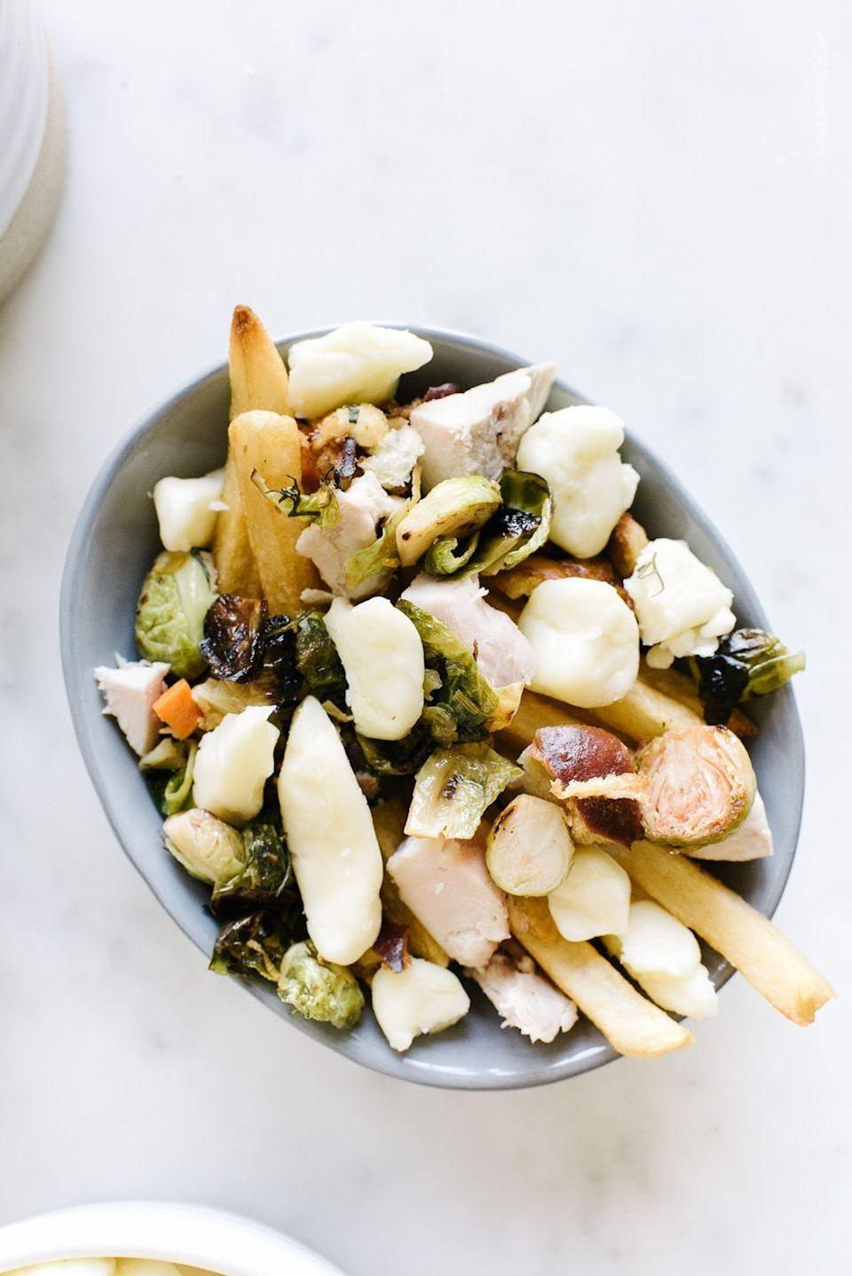 """<p>It's fine to have Canadian food the day after Thanksgiving, right? Just add your leftovers to a plate of fries!</p><p><em><a href=""""http://iamafoodblog.com/thanksgiving-poutine/"""" rel=""""nofollow noopener"""" target=""""_blank"""" data-ylk=""""slk:Get the recipe from I Am A Food Blog »"""" class=""""link rapid-noclick-resp"""">Get the recipe from I Am A Food Blog »</a></em></p>"""