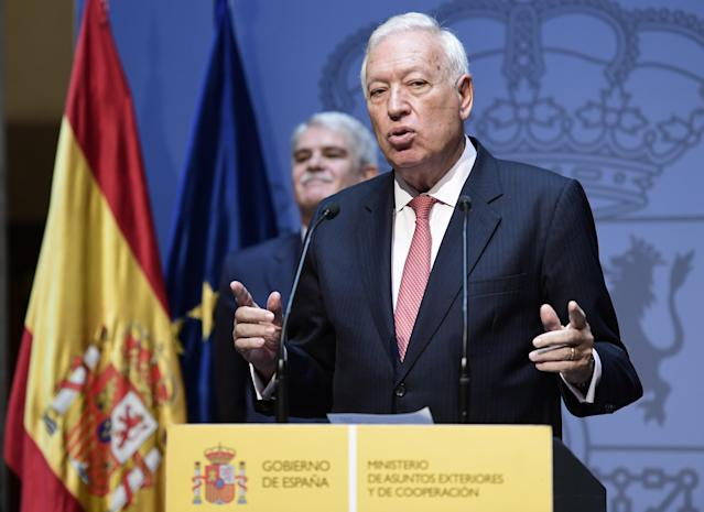 José Manuel García Margallo (Photo credit should read JAVIER SORIANO/AFP via Getty Images)