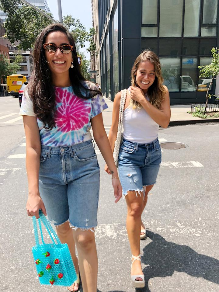 <p>Ditch your go-to cutoffs and give light-wash Bermuda shorts a try. They're just as versatile as your favorite pair of denim shorts and you can get away with wearing them to work because of the length (as long as jeans are HR approved).</p>