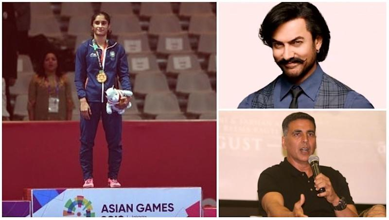 Vinesh Phogat Wins Gold Medal in Asian Games 2018: Amitabh Bachchan, Aamir Khan and Akshay Kumar and Other B-Town Congratulate 'Golden Girl' on Twitter!