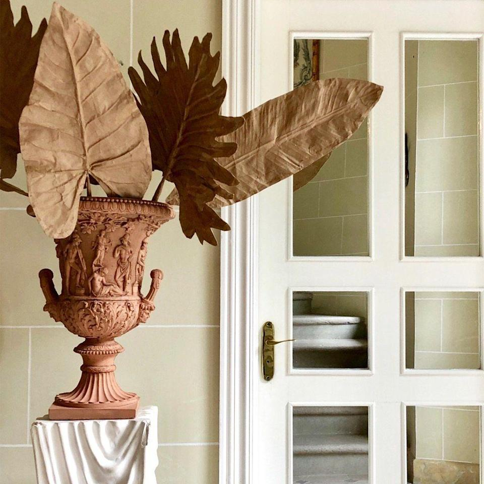 """<p><strong>Casa Gusto</strong></p><p>getthegusto.com</p><p><strong>$225.00</strong></p><p><a href=""""https://www.getthegusto.com/collections/handmade-paper-mache/products/paper-mache-leaves"""" rel=""""nofollow noopener"""" target=""""_blank"""" data-ylk=""""slk:Shop Now"""" class=""""link rapid-noclick-resp"""">Shop Now</a></p><p>Get the look with these handmade papier-mâché leaves that come in a set of three.</p>"""
