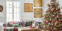 """<p>Looking for the perfect tree topper but want something out-of-the-box? May we suggest our new favorite way to trim your tannenbaum: Christmas tree ribbons. These decorations are just the finishing touch your <a href=""""https://www.countryliving.com/life/g29667070/types-of-christmas-trees/"""" rel=""""nofollow noopener"""" target=""""_blank"""" data-ylk=""""slk:Christmas tree"""" class=""""link rapid-noclick-resp"""">Christmas tree</a> needs. You wouldn't leave a <a href=""""https://www.countryliving.com/diy-crafts/how-to/g900/how-to-wrap-a-gift/"""" rel=""""nofollow noopener"""" target=""""_blank"""" data-ylk=""""slk:beautifully wrapped Christmas present"""" class=""""link rapid-noclick-resp"""">beautifully wrapped Christmas present</a> without a bow, and you shouldn't leave your tree without one! These 18 Christmas tree ribbon ideas are a wonderful, easy-to-do <a href=""""https://www.countryliving.com/diy-crafts/how-to/g903/holiday-craft-projects-1209/"""" rel=""""nofollow noopener"""" target=""""_blank"""" data-ylk=""""slk:Christmas craft"""" class=""""link rapid-noclick-resp"""">Christmas craft</a> guaranteed to fit any <a href=""""https://www.countryliving.com/home-design/decorating-ideas/advice/g1247/holiday-decorating-1208/"""" rel=""""nofollow noopener"""" target=""""_blank"""" data-ylk=""""slk:Christmas design theme"""" class=""""link rapid-noclick-resp"""">Christmas design theme</a>. </p><p>Before you decide how you want to style the tree, you must first decide what type of ribbon you want to use. If your tree exudes a classic Christmas vibe, try something like a wide Tartan ribbon. If your style leans a bit more rustic, jute or burlap ribbon is probably the choice for you. For the glitz-and-glam holiday lovers, a ribbon with metallic hints or made of shiny satin is best. You'll also want to grab your sharpest <a href=""""https://www.amazon.com/Cutting-Scissors-Ceremony-Professional-Cardboard/dp/B07SWHVP1G/?tag=syn-yahoo-20&ascsubtag=%5Bartid%7C10050.g.28703522%5Bsrc%7Cyahoo-us"""" rel=""""nofollow noopener"""" target=""""_blank"""" data-ylk=""""slk:ribbon-cutting scissors"""" class=""""link rapid"""