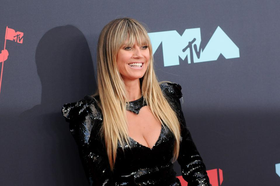 PRUDENTIAL CENTER, NEWARK, NEW JERSEY, UNITED STATES - 2019/08/26: Heidi Klum (Heidi Kaulitz) attends the 2019 MTV Video Music Video Awards held at the Prudential Center in Newark, NJ. (Photo by Efren Landaos/SOPA Images/LightRocket via Getty Images)