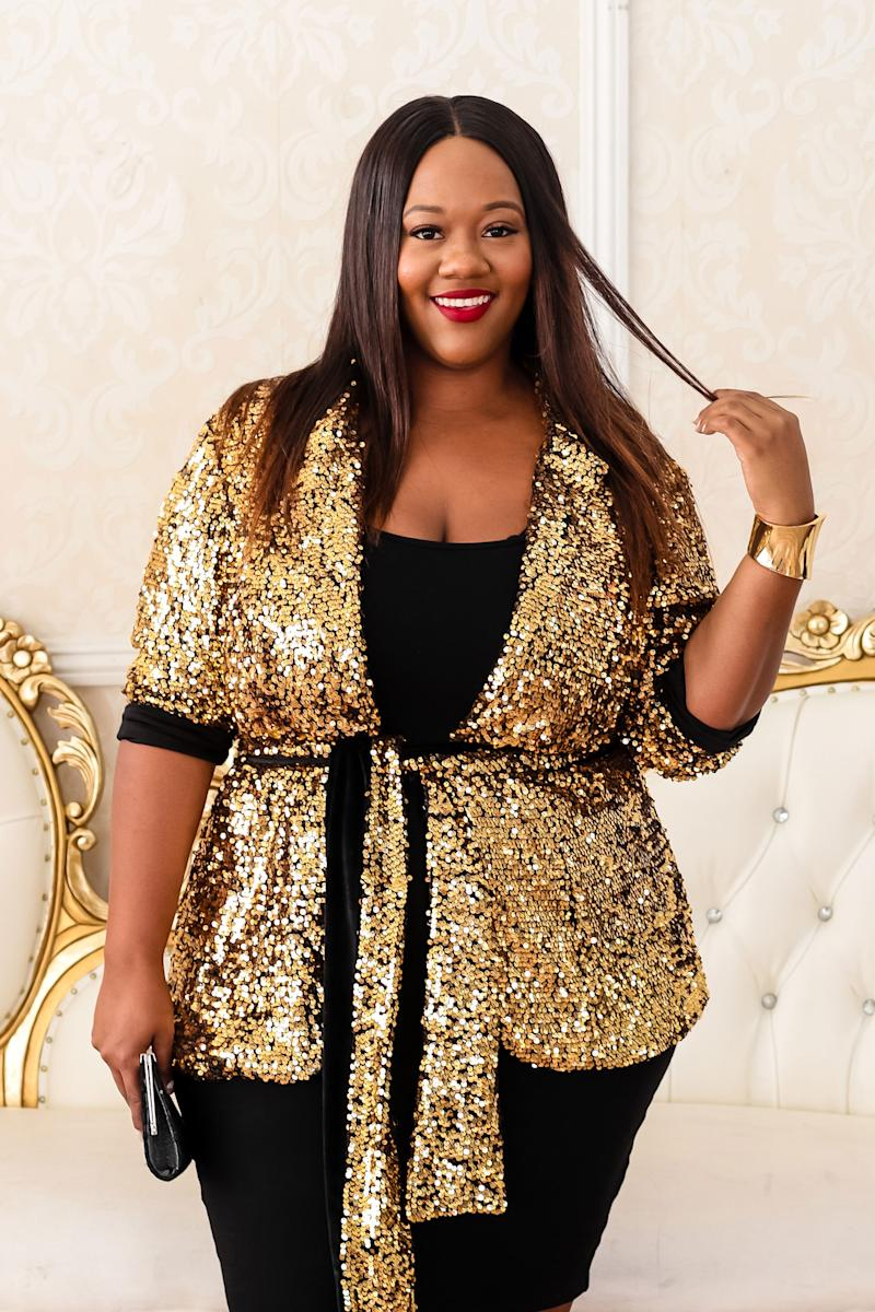 Kristine Thompson of TrendyCurvy is ringing in the new year in style. (Photo courtesy of Kristine Thompson)