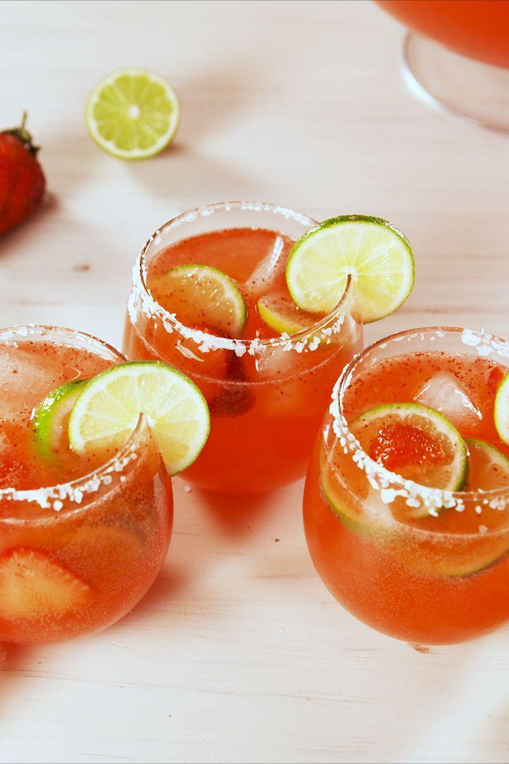 "<p>This big batch drink will brighten up the whole party. </p><p>Get the recipe from <a href=""https://www.delish.com/cooking/recipe-ideas/a19757198/margarita-punch-recipe/"" rel=""nofollow noopener"" target=""_blank"" data-ylk=""slk:Delish"" class=""link rapid-noclick-resp"">Delish</a>. </p>"