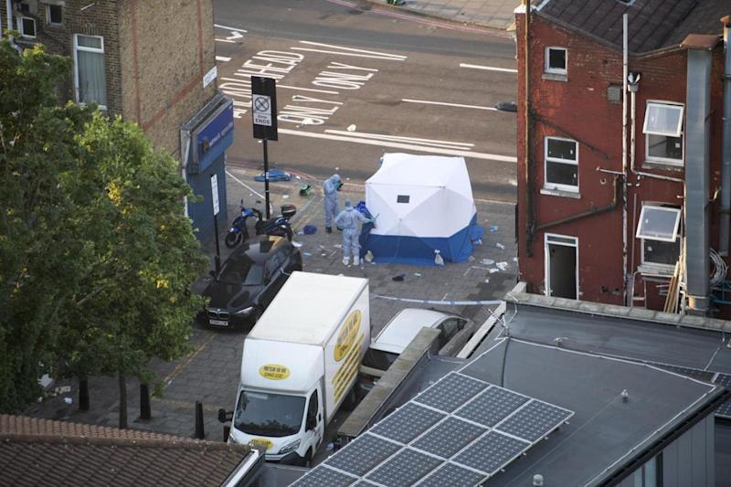 Finsbury Park attack: The scene at Seven Sisters Road where a man was killed (Jeremy Selwyn)