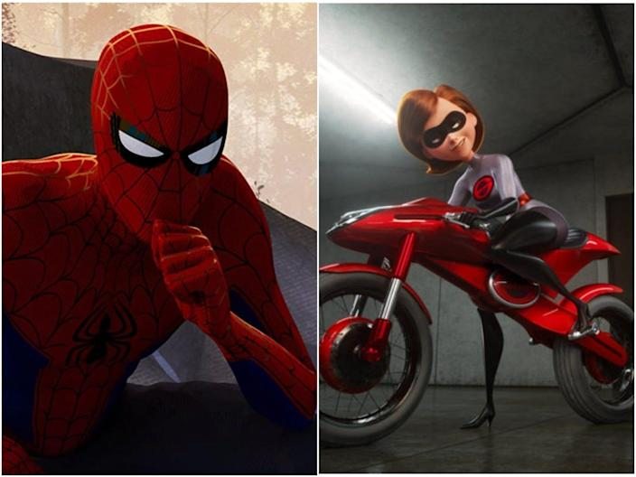 Spider Man and Mrs. Incredible.