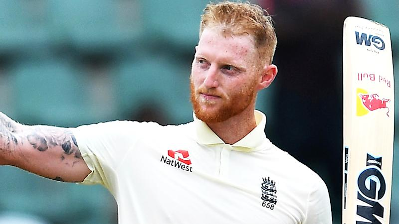 England star Ben Stokes is pictured after hitting a century against South Africa in 2020.