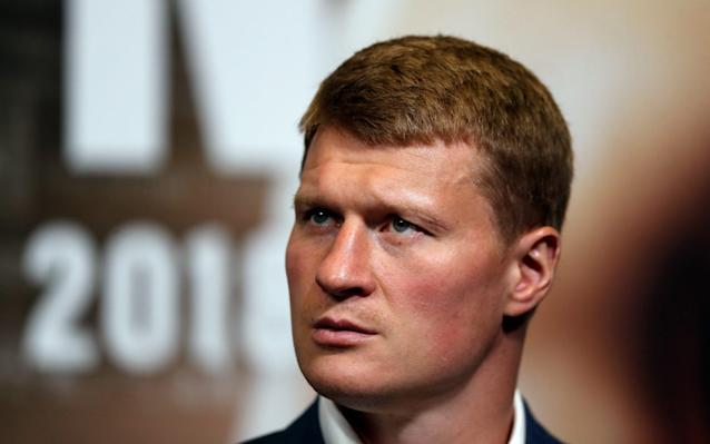 Alexander Povetkin looks on during a press conference with Anthony Joshua ahead of their fight at Wembley Stadium on July 18, 2018 in London, England - Getty Images