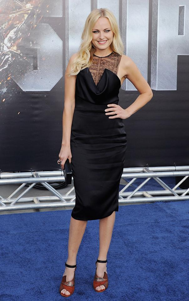 "Malin Akerman attends the Los Angeles premiere of ""Battleship"" on May 10, 2012.<br>"