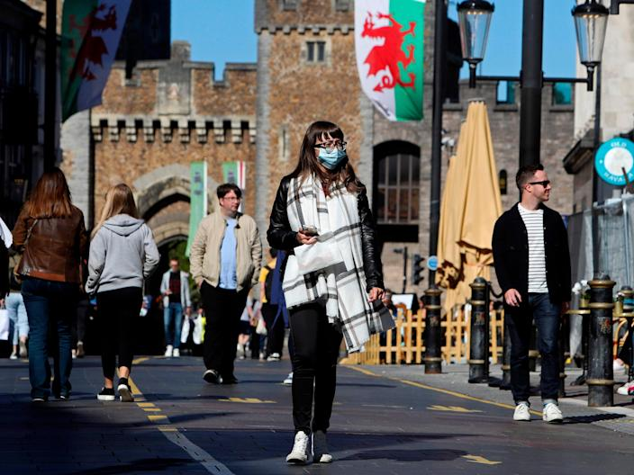Nearly 60 per cent of Wales is set to be under local lockdown restrictions from Monday (AFP via Getty Images)