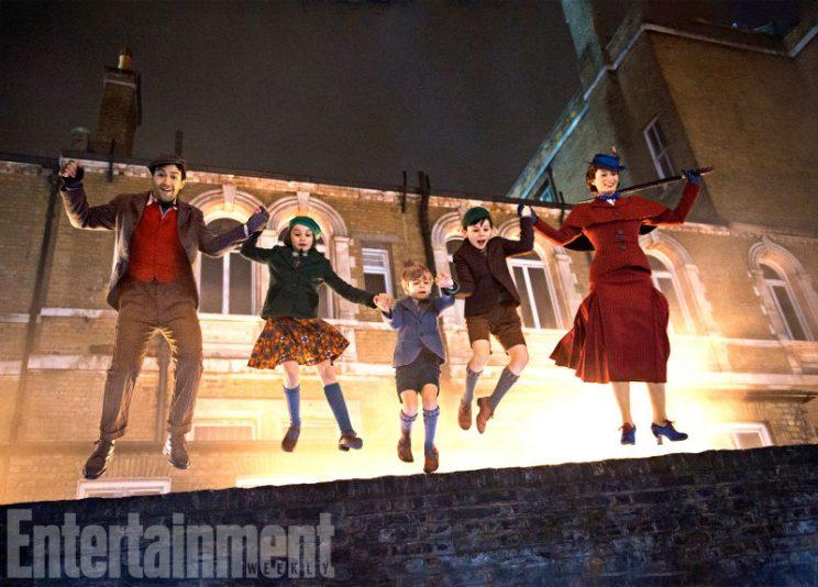 Poppins... first pics show the new take on the Hollywood classic - Credit: Entertainment Weekly