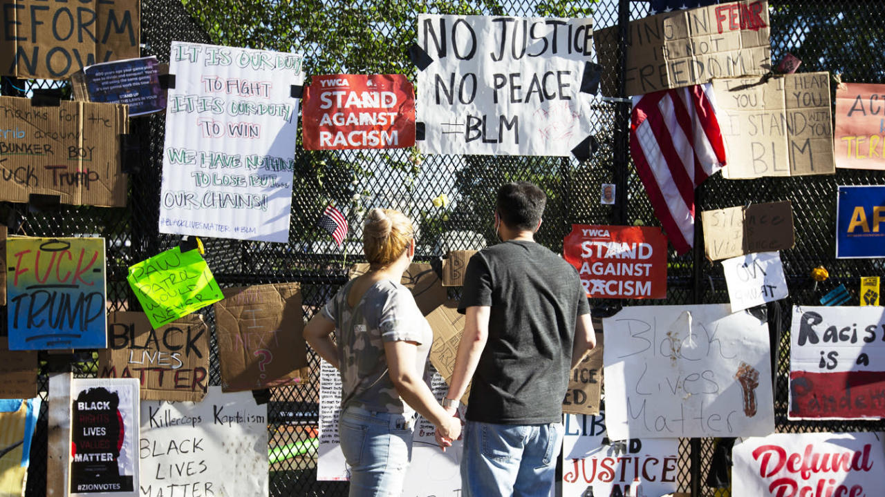How a White House fence became a memorial to Black Lives Matter