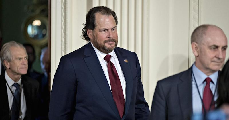 Marc Benioff says he's been most aggressive with Trump over pursuit of an 'apprenticeship moonshot'