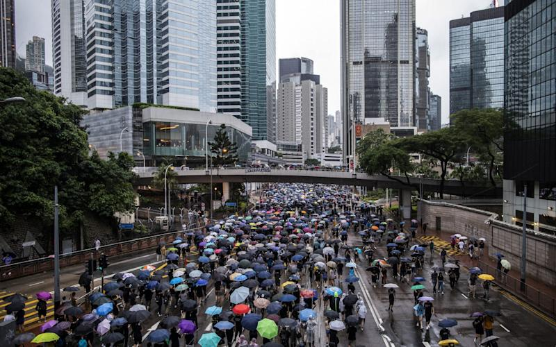 Demonstrators Attend Anti-Government Protest In Hong Kong - Bloomberg