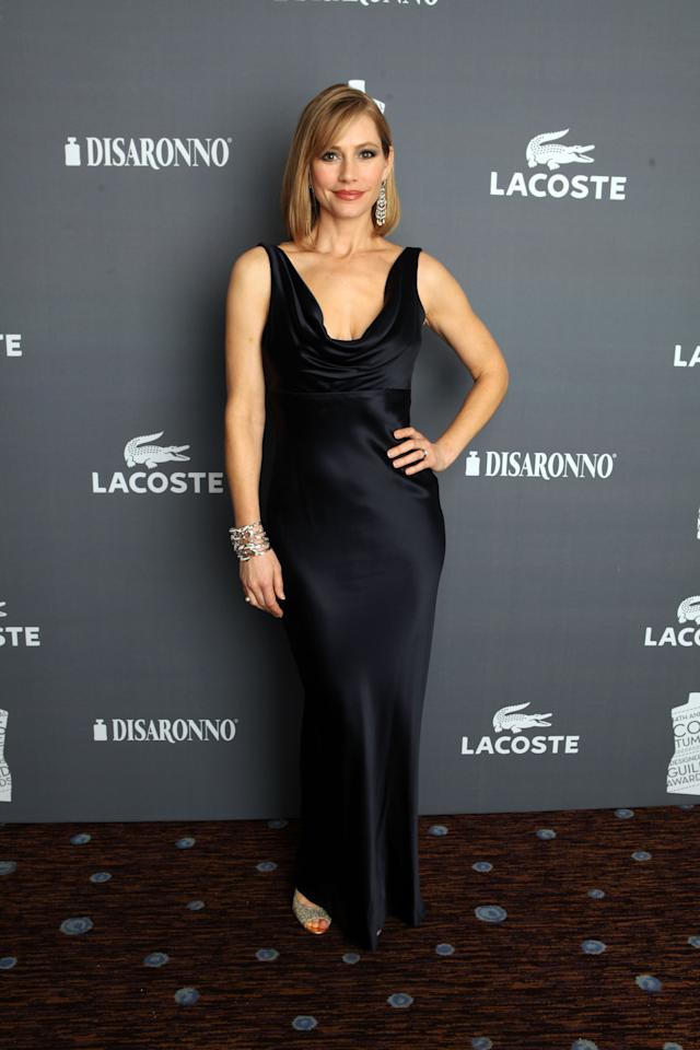 BEVERLY HILLS, CA - FEBRUARY 21:  Actress Meredith Monroe attends the 14th Annual Costume Designers Guild Awards With Presenting Sponsor Lacoste held at The Beverly Hilton hotel on February 21, 2012 in Beverly Hills, California.  (Photo by Christopher Polk/Getty Images)