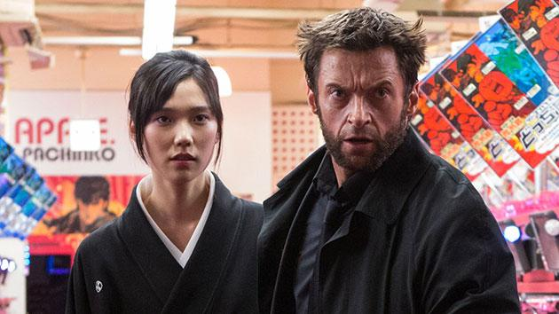 Tao Okamoto and Hugh Jackman in 'The Wolverine'