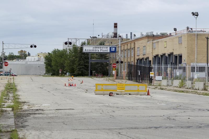This photo taken Sunday, Aug. 12, 2012, shows the closed down General Motors plant in Janesville, Wis., hometown of U.S. Rep. Paul Ryan. A defining question of the campaign Ryan joined this week as the Republican Party's vice presidential nominee just might be what comes next for places like Janesville. (AP Photo/Andy Manis)
