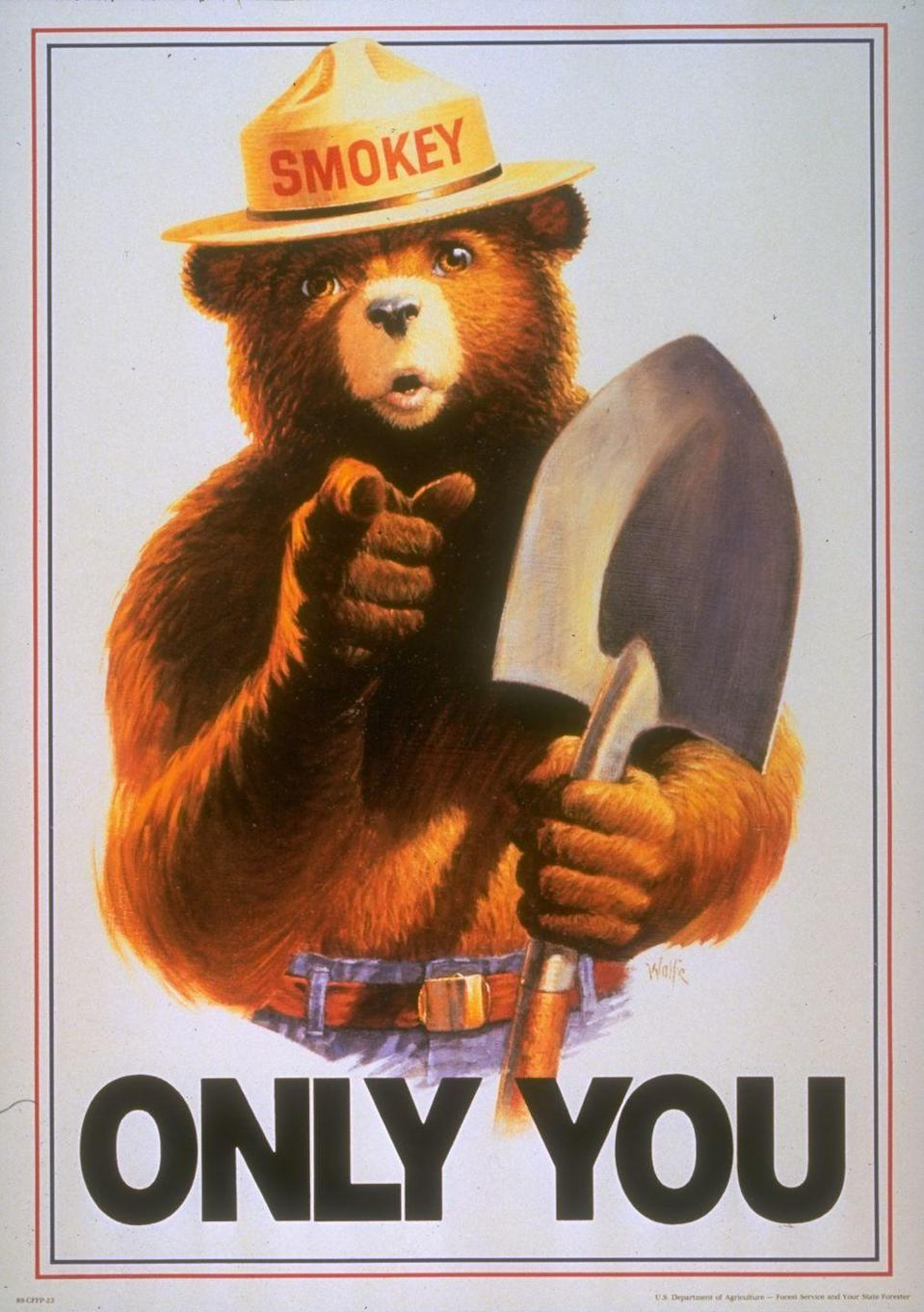 <p>Yep, that's his name. Contrary to popular belief, his name isn't Smokey <em>the</em> Bear. </p>