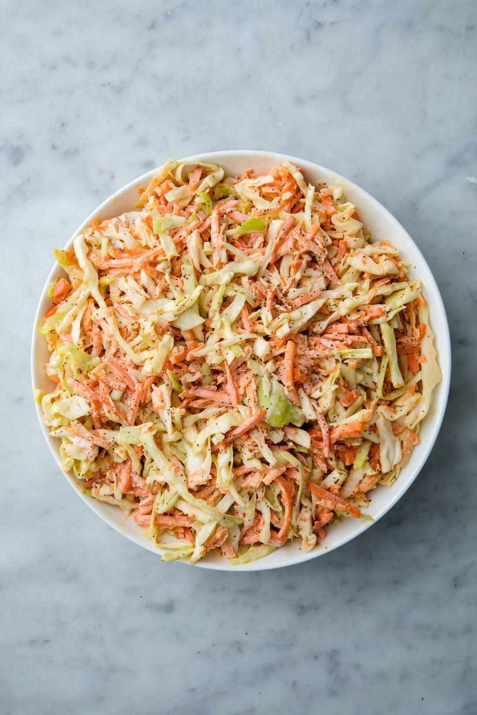 """<p>Serve it as a side <em>and </em>on your chicken burgers.</p><p>Get the recipe from <a href=""""https://www.delish.com/cooking/recipe-ideas/a19601658/best-homemade-coleslaw-recipe/"""" rel=""""nofollow noopener"""" target=""""_blank"""" data-ylk=""""slk:Delish"""" class=""""link rapid-noclick-resp"""">Delish</a>.</p>"""