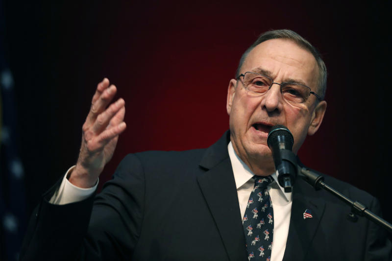"Maine's Republican governor, Paul LePage, blocked voter-approved measures to raise the minimum wage and expand Medicaid. When a judge ordered him to expand Medicaid, LePage said he would rather ""go to jail."" (ASSOCIATED PRESS)"