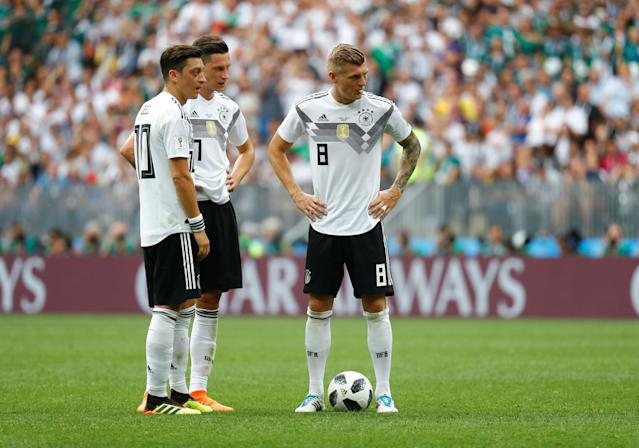 Like many other World Cup favorites, Germany is off to a slow start after a 1-0 loss to Mexico on Sunday. (Reuters)