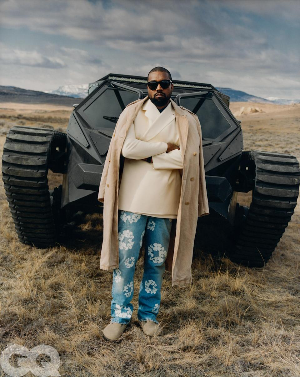 Kanye West at his own West Lake Ranch outside Cody, Wyoming.